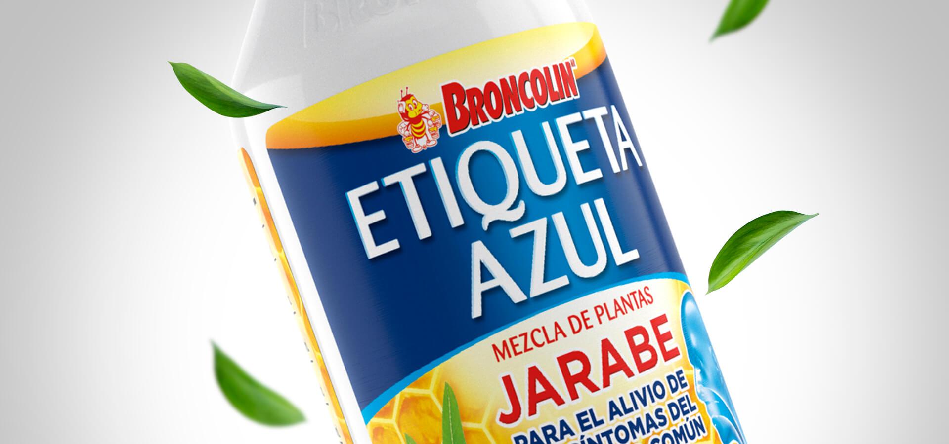 Broncolín Etiquetas Azúl y Verde